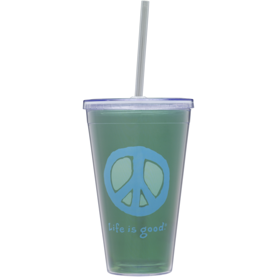 22 oz. Cup & Straw