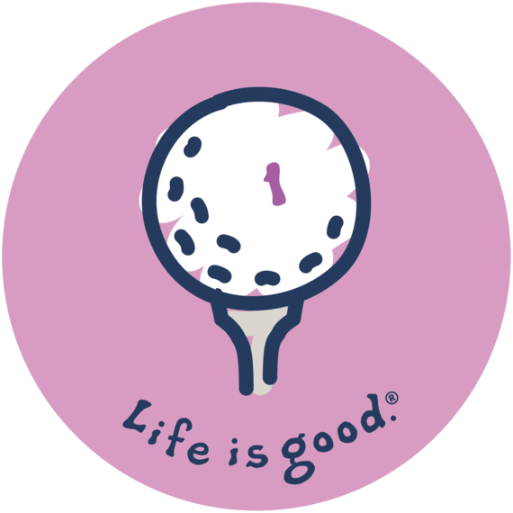 Golf Tee Sticker