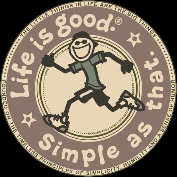 Simple As That Run Circle Sticker