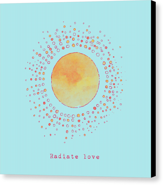 Radiate Love Sun Wall Art