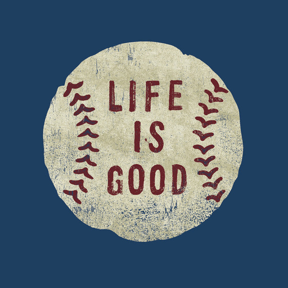 Home Amp Pet Vintage Baseball Wall Art Life Is Good