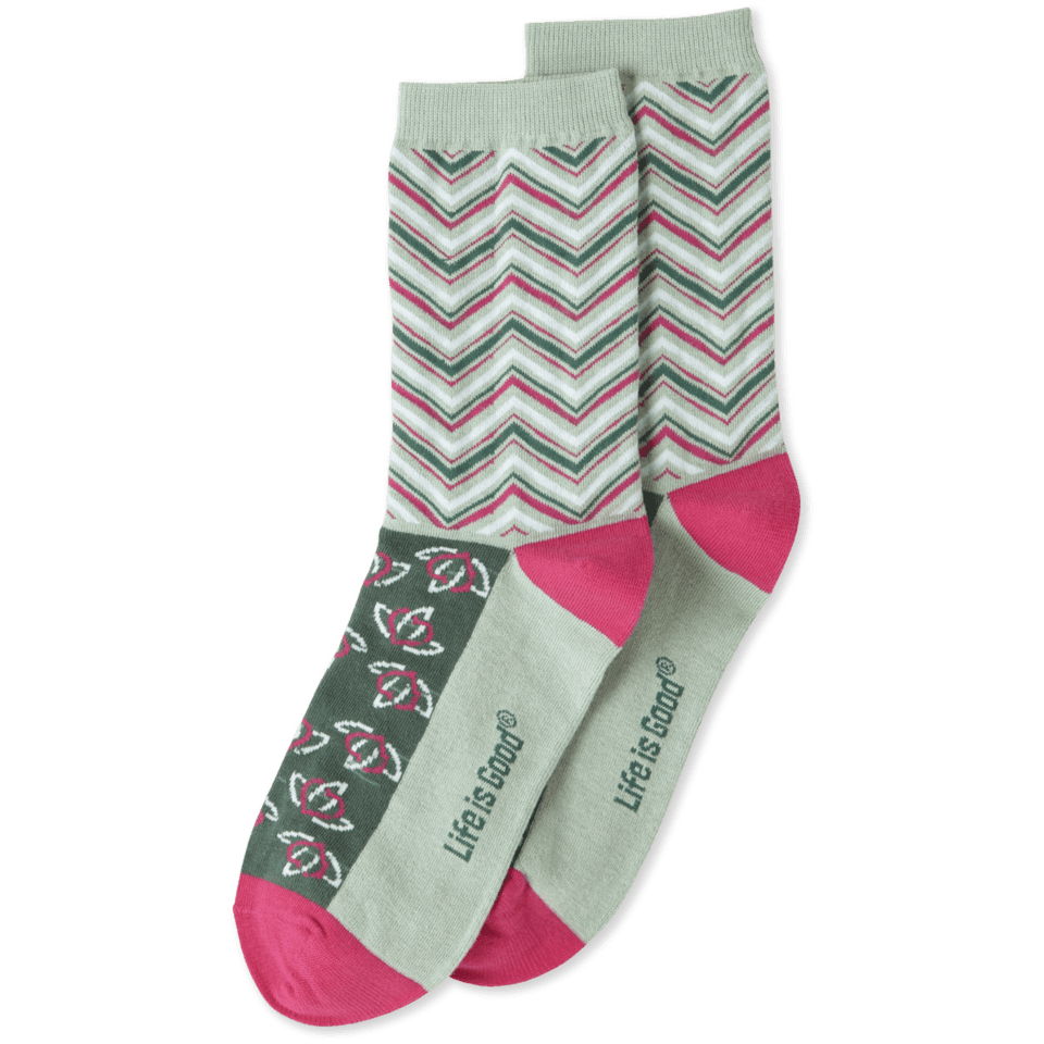 Abstract Repeat Womens Crew Socks