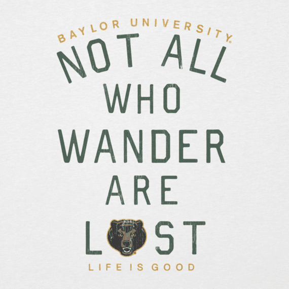 Women's Baylor Not all Who Wander Long Sleeve Cool Vee