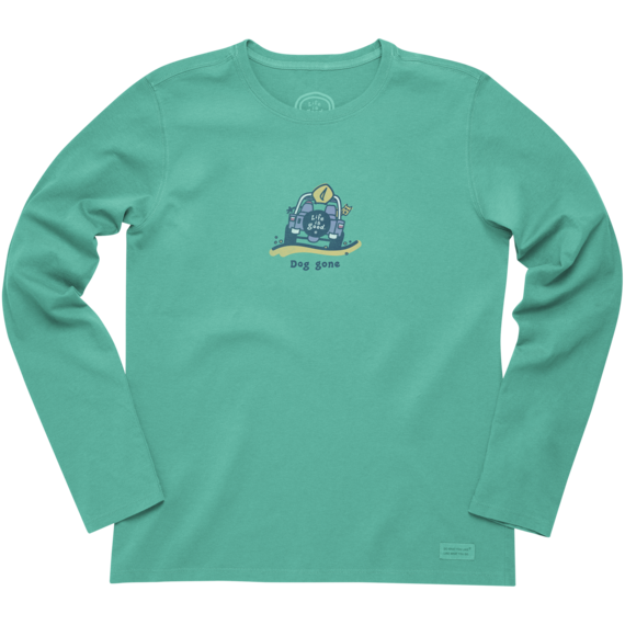 Women's Beach Dog Gone Long Sleeve Crusher Tee