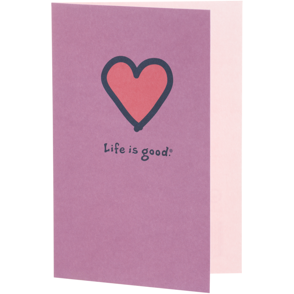 Life is good Because Of You Heart Hallmark Card