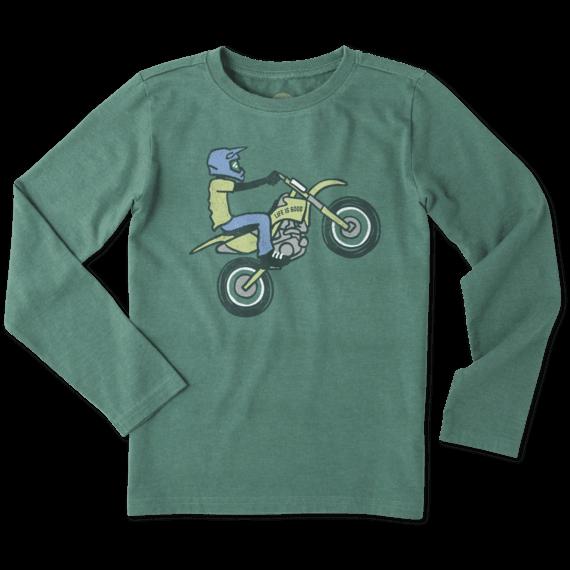 Boys Dirt Bike Rider Long Sleeve Crusher Tee