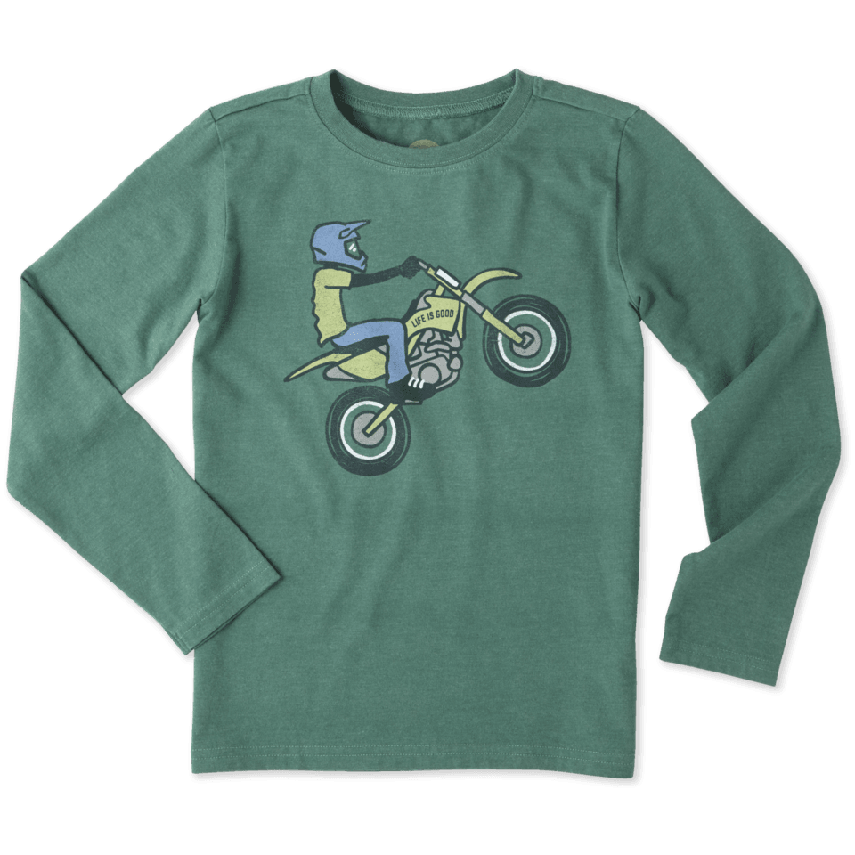 Boys Dirt Bike Rider Long Sleeve Crusher Tee