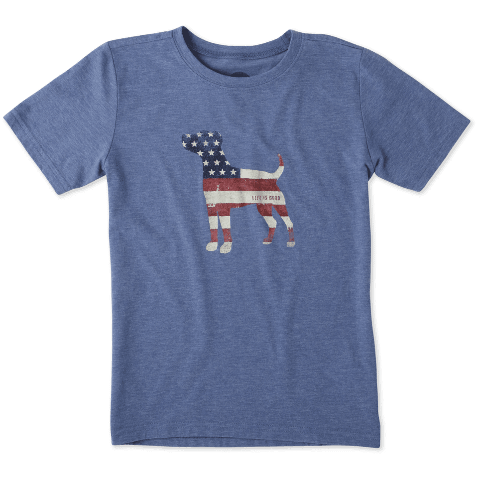 Boys Dog Flag Cool Tee