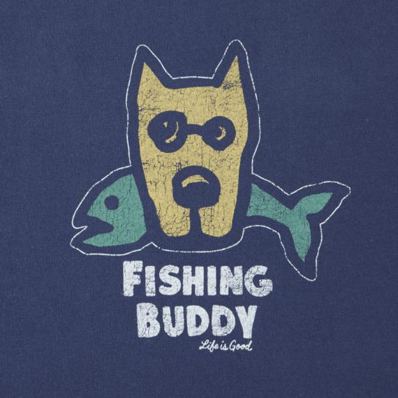 Boys Fishing Buddy Long Sleeve Crusher Tee