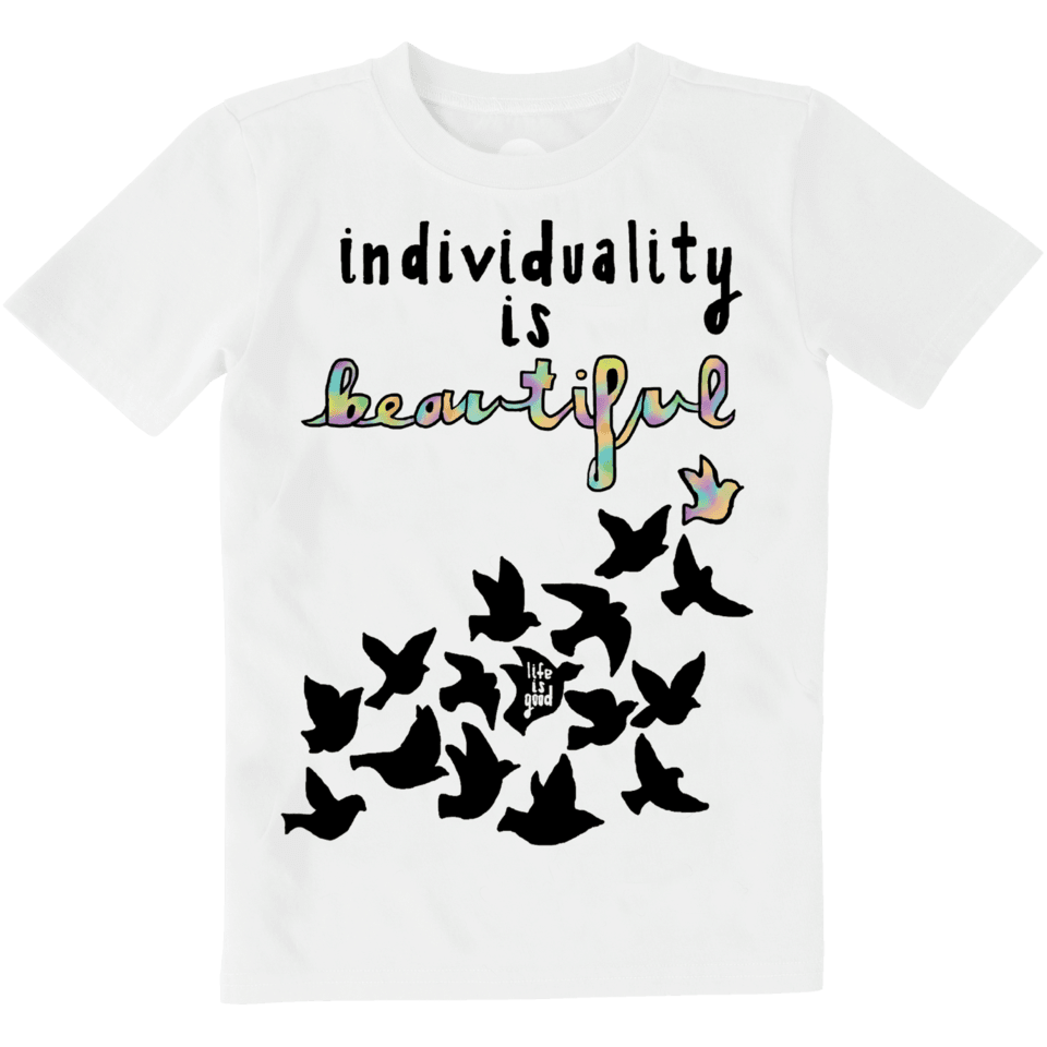 Boys Individuality Is Beautiful Art Contest Crusher Tee