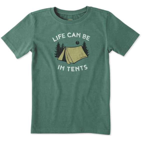 Boys Life Can Be In Tents Crusher Tee