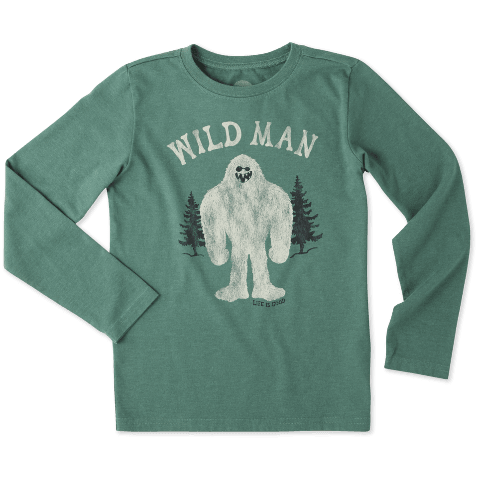 Boys Wild Man Long Sleeve Crusher Tee