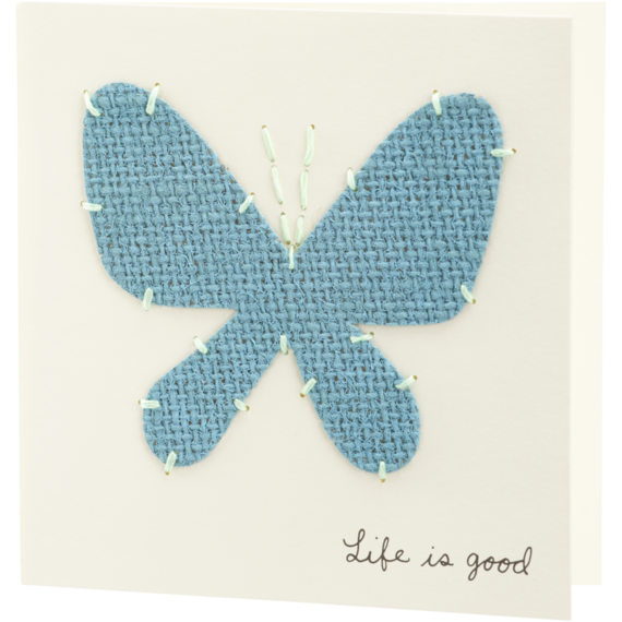 Burlap Butterfly Card