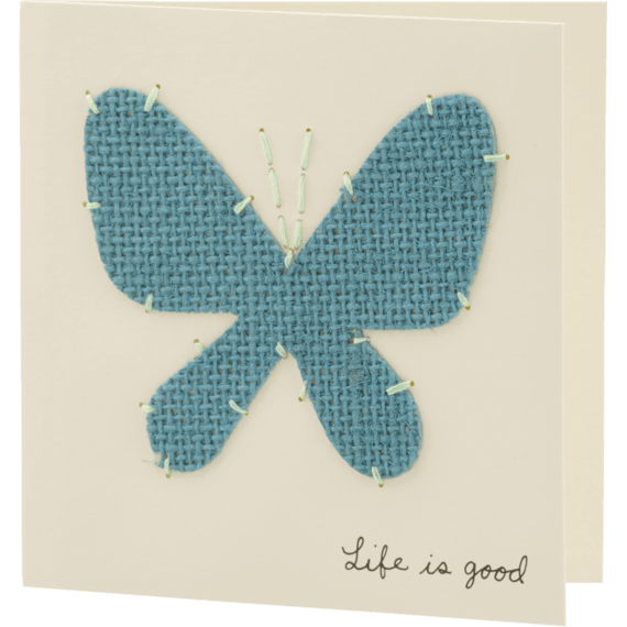 Burlap Butterfly Card