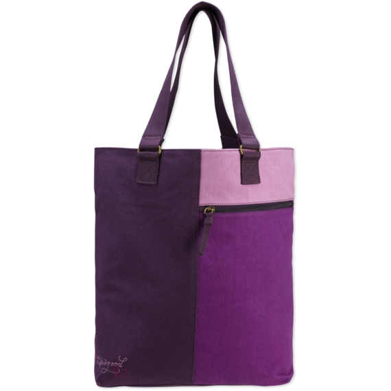 Color Block Stowaway Tote