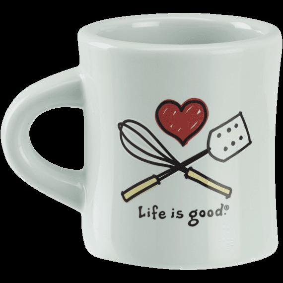 I Heart Baking Diner Mug