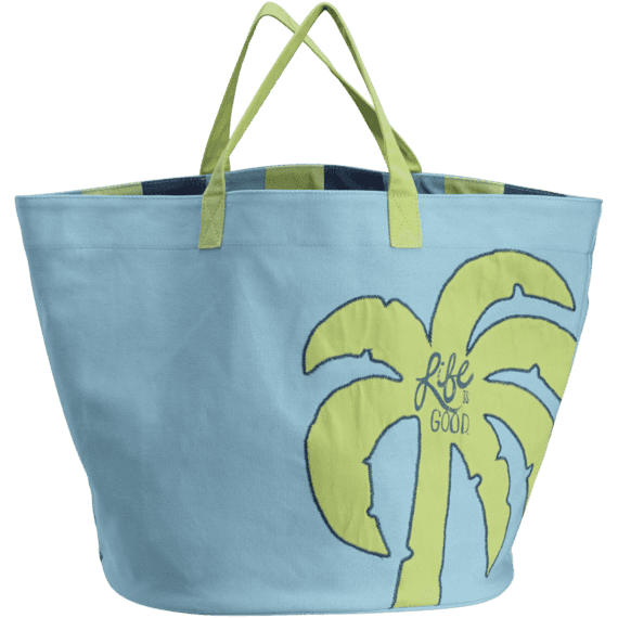 Palm Tree Dockside Beach Bag