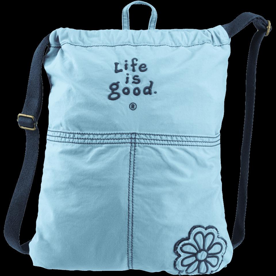 Lifeisgood Essential Cinch Sack, Blue