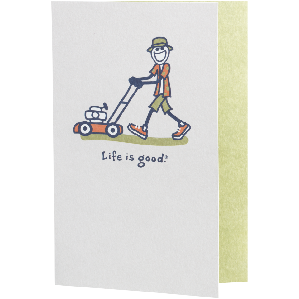 Life is good Father Mows Best Hallmark Card