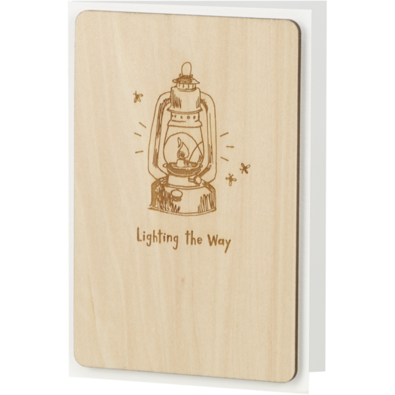 Lighting The Way Wooden Card