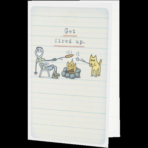 Fired up Jake & Rocket Campfire Card