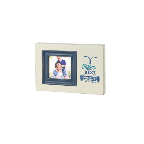Father Mows Best Photo Frame