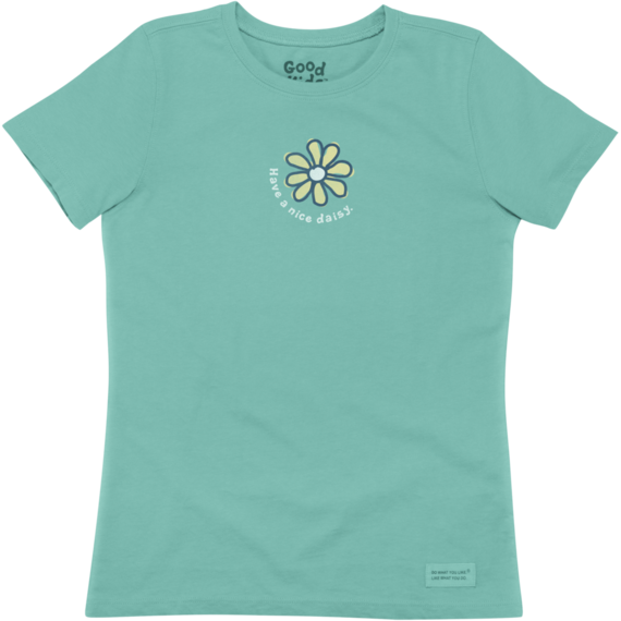Girls' Have A Nice Daisy Crusher Tee