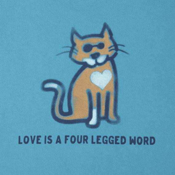 Girls Four Legged Word Cat Crusher Tee