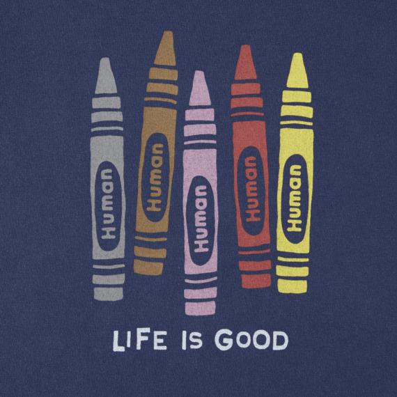 Girls Human Crayons Crusher Tee