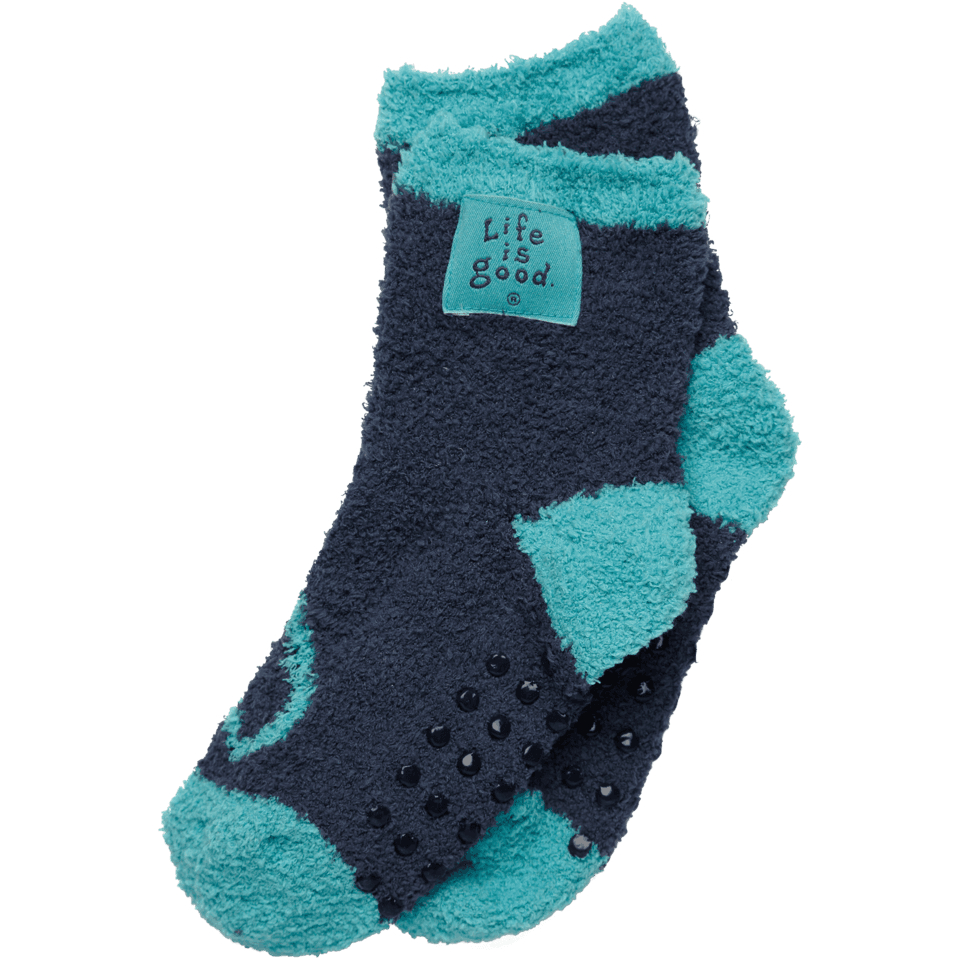 Life is good Girls' Essential Lightweight Snuggle Socks, Blue