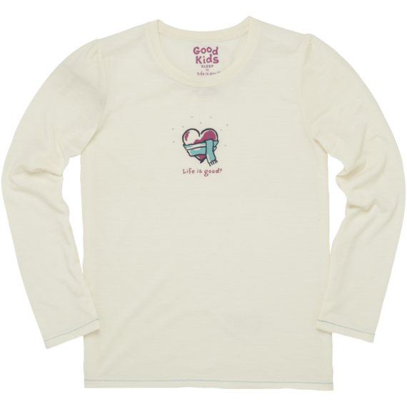Girls' Long Sleeve Heart Sleep Tee