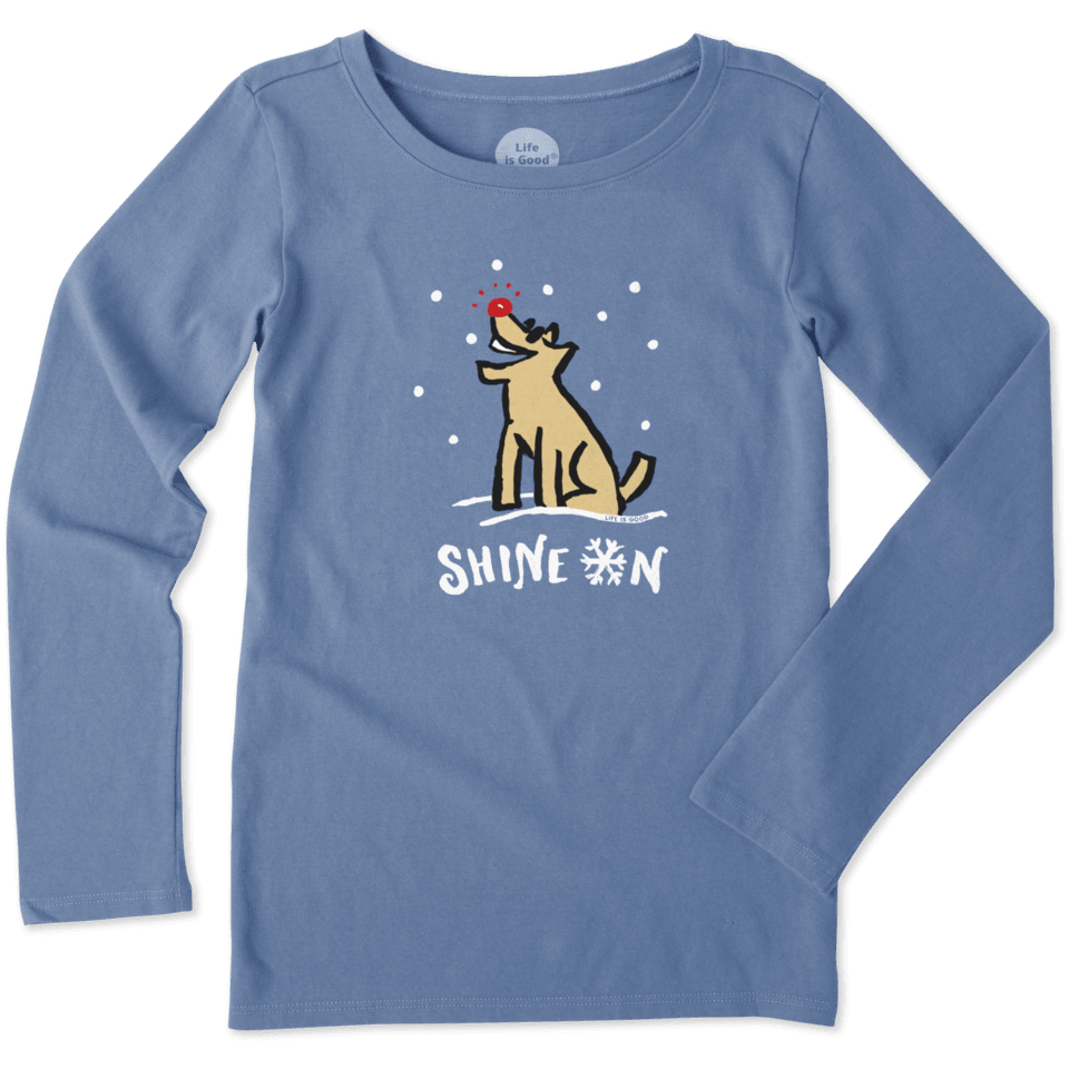Girls Shine On Rocket Long Sleeve Crusher Tee 53030-L