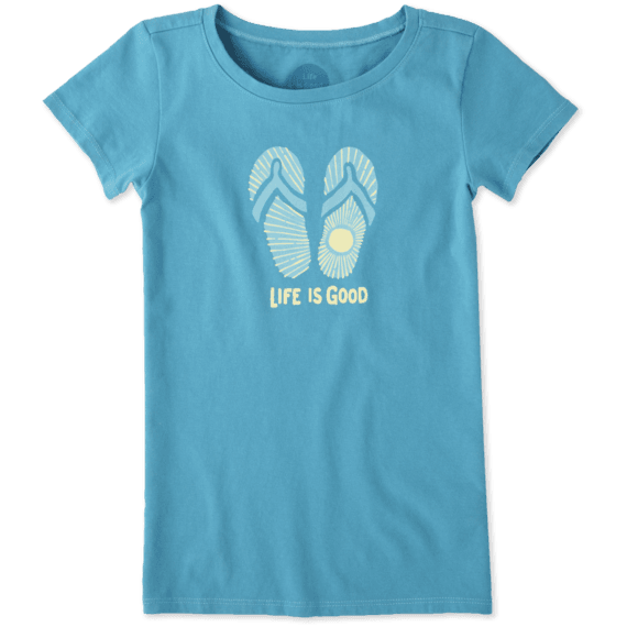 Girls Sunray Flip Flops Crusher Tee