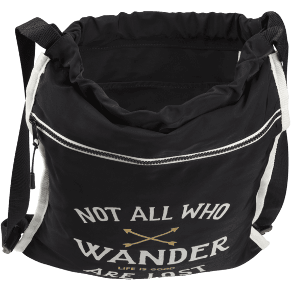 Not All Who Wander Go-To Cinch Sack