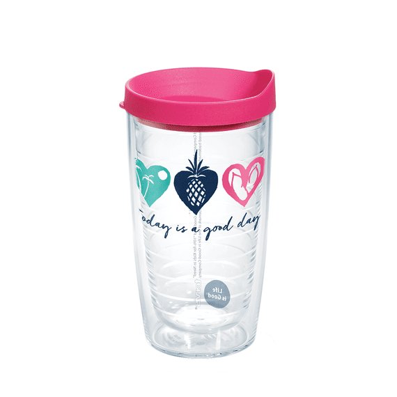 good day hearts tervis tumbler with lid 16oz - Tervis Tumblers