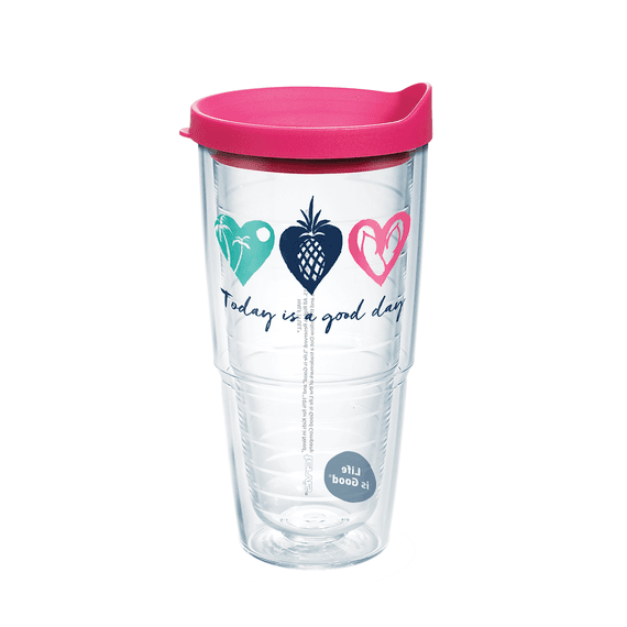 Good Day Hearts Tervis Tumbler with Lid, 24oz