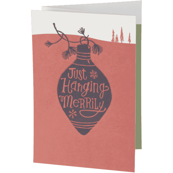 Hanging Merrily Fold Out Holiday Card