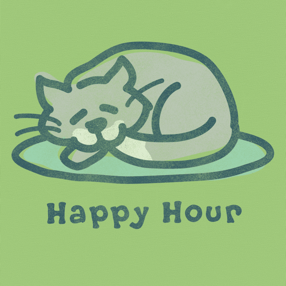 Women's Happy Hour Cat Crusher Tee