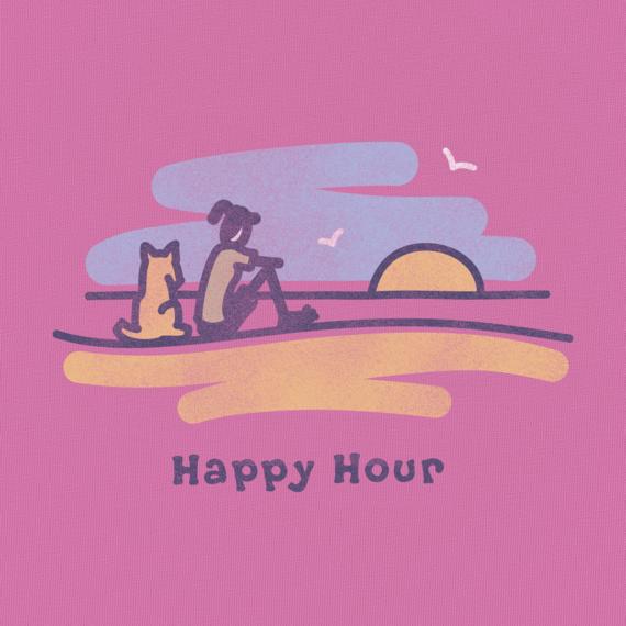 Women's Happy Hour Sunset Long Sleeve Crusher Tee