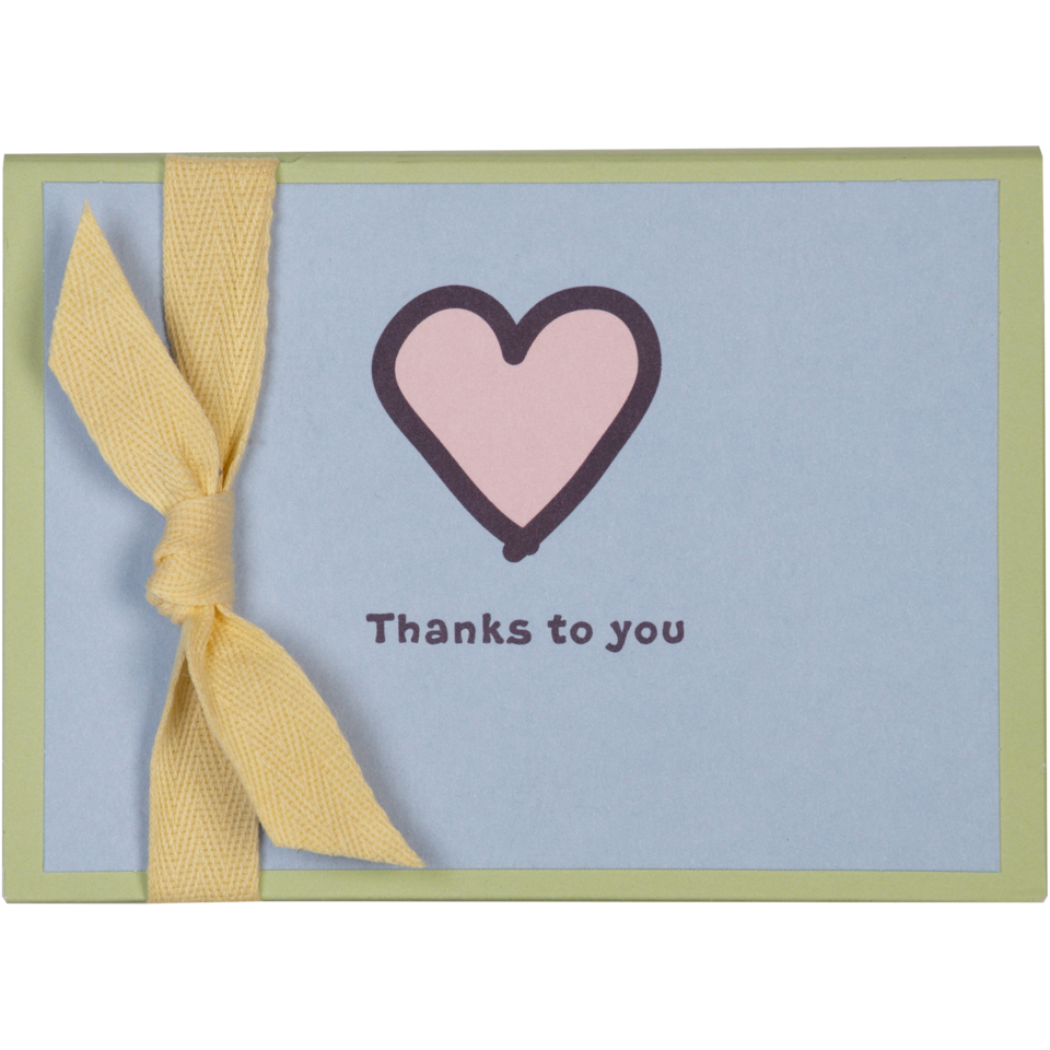 Life is good Heart Thank You Hallmark Note Card Set