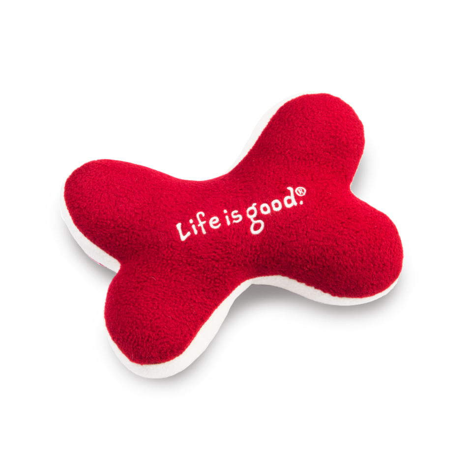 Lifeisgood Holiday Squeaky Bone Dog Toy