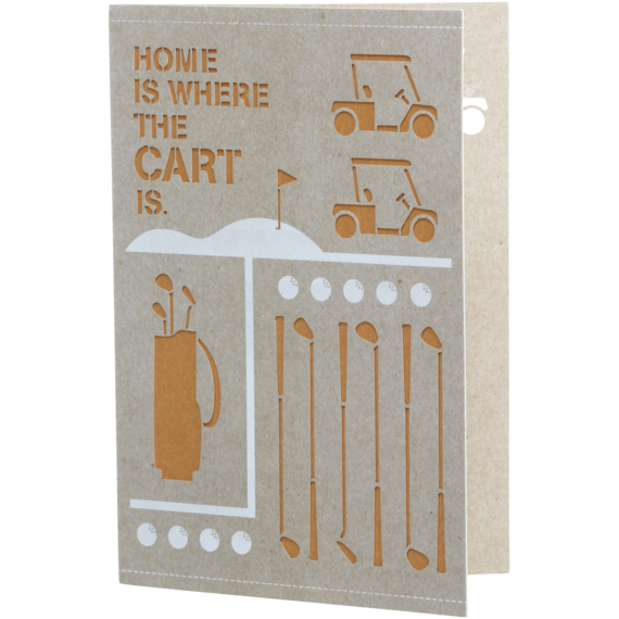Home Is Where The Cart Is Card