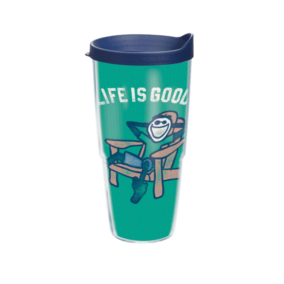 Jake Adirondack Chair Tervis Tumbler with Navy Lid, 24 oz.