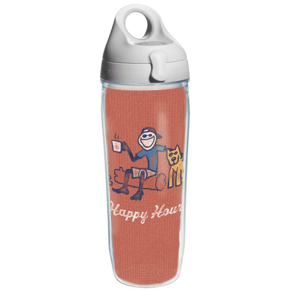Jake Happy Hour Tervis Water Bottle with Grey Lid TRV1240553-OS