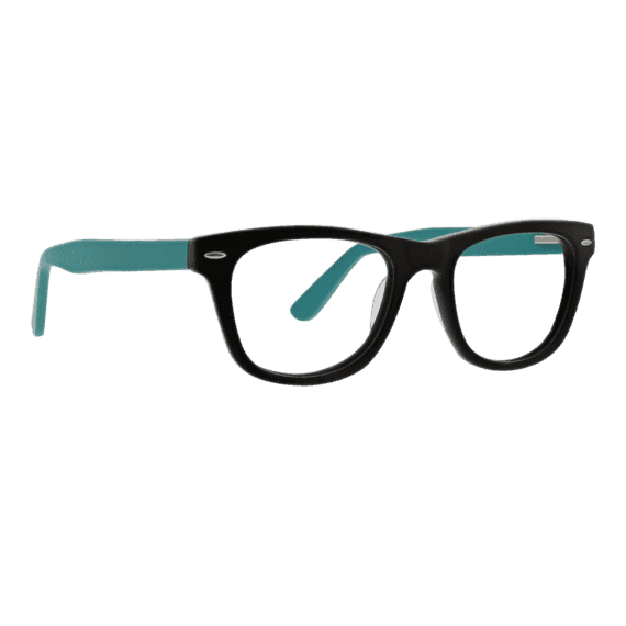 Kane: Wayfarer Reader In Matte Black & Blue