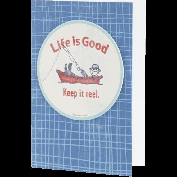 Keep it Reel Jake Coaster Card