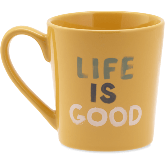 Life is Good Watercolor Everyday Mug