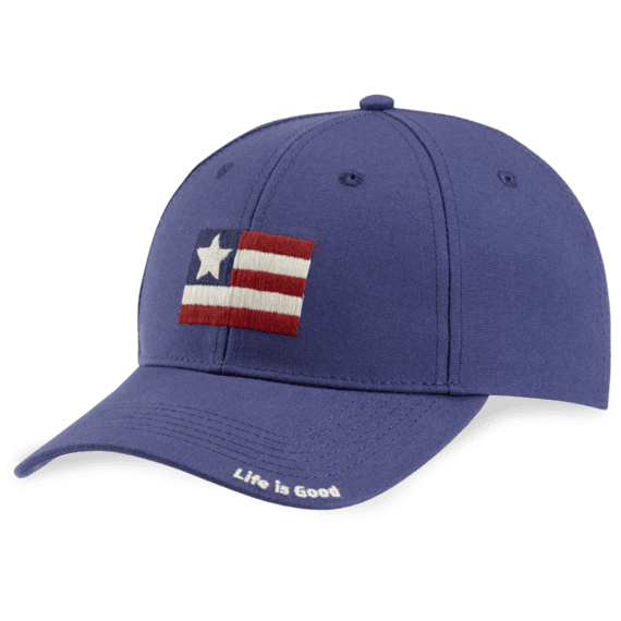 Life is Good Flag High Rise Chill Cap