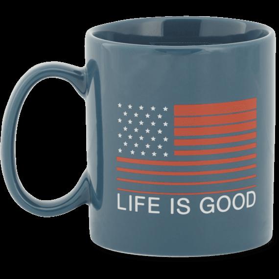 Life is Good Flag Jake's Mug