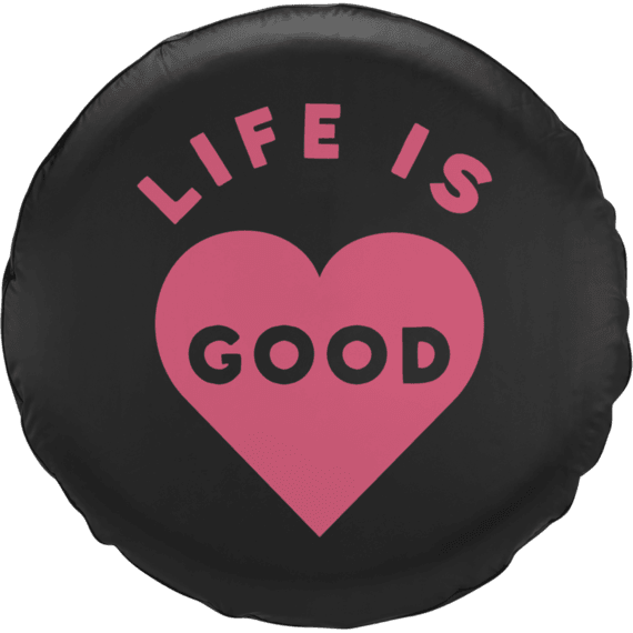 Life is Good Heart Tire Cover